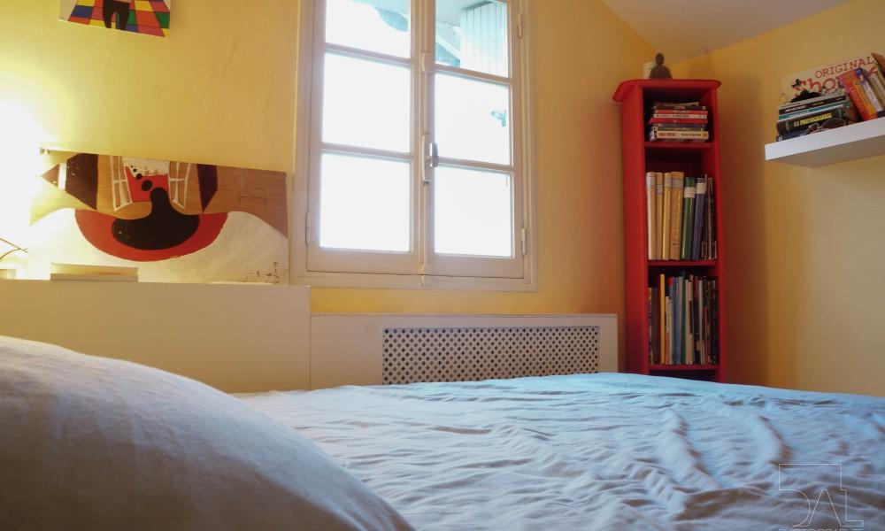 La chambre agréable et spacieuse